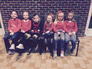 09_six granddaughters Dec 2015 at church